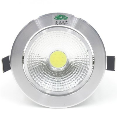 Zweihnder 5W 500Lm COB LED Ceiling LightCeiling Lights<br>Zweihnder 5W 500Lm COB LED Ceiling Light<br><br>Beam Angle: 150 degree<br>Brand: Zweihnder<br>Features: Round Shape, Wired<br>LED Number : 1 x COB LED<br>Luminous Flux: 500Lm<br>Optional Light Color: White,Warm White<br>Package Contents: 1 x Zweihnder LED Ceiling Lamp, 1 x LED Driver<br>Package size (L x W x H): 12 x 12 x 8 cm / 4.72 x 4.72 x 3.14 inches<br>Package weight: 0.192 kg<br>Product size (L x W x H): 10.4 x 10.4 x 5.2 cm / 4.09 x 4.09 x 2.04 inches<br>Product weight: 0.162 kg<br>Sheathing Material: Aluminum<br>Type: Ceiling Lights, Recessed Down Lights<br>Voltage (V): AC 90-260<br>Wattage (W): 5<br>Wavelength / CCT: 3000-3500K,6000-6500K