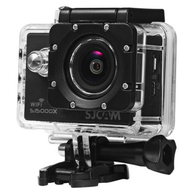 Original SJCAM SJ5000X 4K Sport Action Camera ( Elite Edition )Action Cameras<br>Original SJCAM SJ5000X 4K Sport Action Camera ( Elite Edition )<br><br>Battery Type: Removable<br>Brand: SJCAM<br>Camera Pixel : 12.0 megapixel<br>Capacity: 900mAh<br>Charge way: USB charge by PC<br>Chipset: Novatek 96660<br>Chipset Name: Novatek<br>Class Rating Requirements: Class 10 or Above<br>Decode Format: H.264<br>Delay Shutdown : Yes<br>Exposure Compensation: +1,+1/3,+2,+4/3,+5/3,-1,-1/3,-2,-2/3,-4/3,-5/3,0,2/3<br>Features: Wireless<br>Frequency: 50Hz,60Hz<br>Function: WDR, Loop-cycle Recording, Motion Detection<br>HDMI Output: Yes<br>Image Format : JPG<br>Interface Type: Micro HDMI, Micro USB, TF Card Slot<br>ISO: Auto,ISO100,ISO1600,ISO200,ISO400,ISO800<br>Language: Cesky,Danish,Deutsch,Dutch,English,French,Hungarian,Italian,Japanese,Polski,Portuguese,Russian,Simplified Chinese,Spanish,Traditional Chinese,Turkish<br>Loop-cycle Recording : Yes<br>Loop-cycle Recording Time: 10min,3min,5min,OFF<br>Max External Card Supported: Micro SD 128G (not included)<br>Model: SJ5000X<br>Motion Detection: Yes<br>Package Contents: 1 x Original SJCAM SJ5000X 4K Action Camera, 1 x Waterproof Case + Base Mount + Long Screw, 1 x 900mAh Li-ion Battery, 1 x Quick Release J-Shaped Buckle, 1 x Housing Backdoor with Holes, 1 x Bike Hand<br>Package size (L x W x H): 27.00 x 15.00 x 8.00 cm / 10.63 x 5.91 x 3.15 inches<br>Package weight: 0.7500 kg<br>Power Supply: 5V / 1A<br>Product size (L x W x H): 6.10 x 2.50 x 4.30 cm / 2.4 x 0.98 x 1.69 inches<br>Product weight: 0.0680 kg<br>Screen resolution: 320x240<br>Screen size: 2.0inch<br>Screen type: LCD<br>System requirements: Mac OS x 10.3.6 above,Win 7,Windows 2000 / XP / Vista<br>Time Stamp: Yes<br>Type: Sports Camera, HD Car DVR Recorder<br>USB Function: PC-Camera<br>Video format: MP4<br>Video Output : AV-Out,HDMI<br>Video Resolution: 1080P (1920 x 1080),2K(2560 x 1440)30fps,4K (2880 x 2160),720P (1280 x 720)<br>Video System: NTSC,PAL<br>Waterproof: Yes<br>Waterproof Rating : IP68 with waterproof case, 30m underwater<br>WDR: Yes<br>White Balance Mode: Auto, Fluorescent, Tungsten, Daylight, Cloudy<br>Wide Angle: 170 degree wide angle<br>WIFI: Yes<br>WiFi Distance : 10m<br>WiFi Function: Settings<br>Working Time: About 80 minutes with WiFi off (at 1080P 60fps and 2K 30fps)