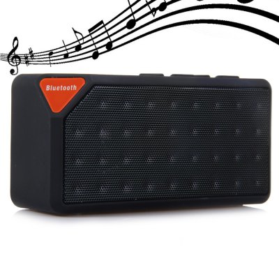 Cube X3 Wireless Mini Bluetooth V2.1 SpeakerSpeakers<br>Cube X3 Wireless Mini Bluetooth V2.1 Speaker<br><br>Audio Source: Bluetooth Enabled Devices,TF/Micro SD Card,U-disk<br>Battery Capacity: 550-600mAh<br>Bluetooth Version: V2.1+EDR<br>Charging Time: 2H<br>Color: Black,Blue,Green,Red,Yellow<br>Compatible with: MP5, TF/Micro SD Card, Tablet PC, PC, MP4, MP3, Mobile phone, Laptop, iPhone<br>Connection: Wireless<br>Design: Mini, Multifunctional, Portable, Stylish<br>Functions: AUX Function, Stereo, Songs Track<br>Interface: TF Card Slot, SD Card Slot, Mini USB, Power Charge Port<br>Material: Plastic, Metal<br>Model: X3<br>Package Contents: 1 x X3 Wireless Bluetooth Speaker, 1 x USB Power Cable, 1 x Audio Cable, 1 x Bilingual User Manual in English and Chinese<br>Package size (L x W x H): 13.20 x 5.80 x 4.00 cm / 5.2 x 2.28 x 1.57 inches<br>Package weight: 0.2300 kg<br>Product size (L x W x H): 10.80 x 5.40 x 3.50 cm / 4.25 x 2.13 x 1.38 inches<br>Product weight: 0.1690 kg<br>Protocol: A2DP,AVRCP<br>S/N: No less than 95dB<br>Supports: FM, WiFi Connected, Volume Control, Microphone, TF Card Music Playing, SD Card Music Playing, Loudspeaker, Hands-free Calls, Bluetooth<br>Transmission Distance: W/O obstacles ?10m<br>Working Voltage: 5V / 500mA
