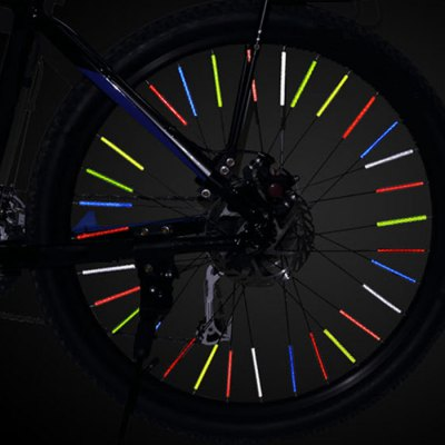 NUCKILY 12pcs Multi-color Spoke Reflectors for Bicycle Wheels