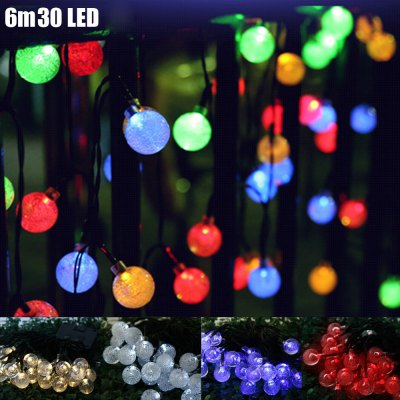 6m 30 LED Solar String Light - Bubble Shape