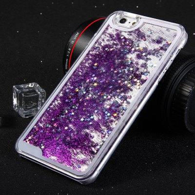 Plastic Back Cover Case Stars Sequins Design for iPhone 6 - 5.5inch