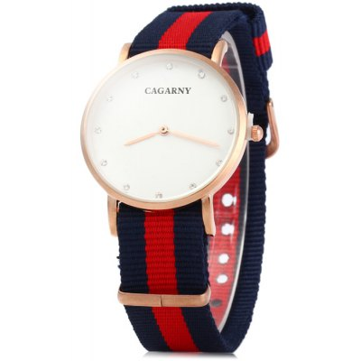 Cagarny 6813 Male Japan Quartz Watch with Canvas Band