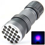 390nm Compact LED Purple Colour Torch for Currency Detector