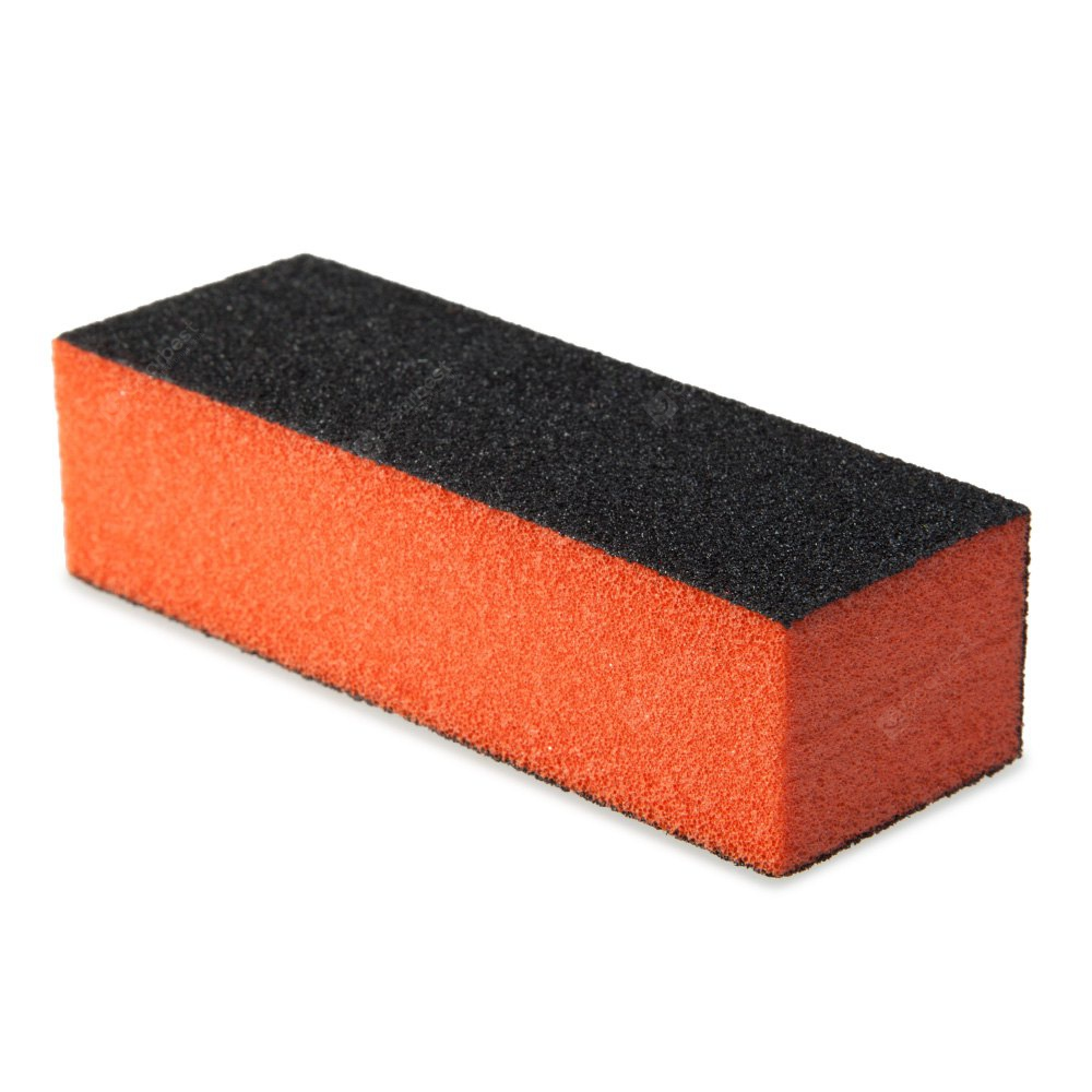 Professional Silicon Carbide Abrasive Drywall Sponge Sanding Pad Black Sides Use Polish Crystal Nail