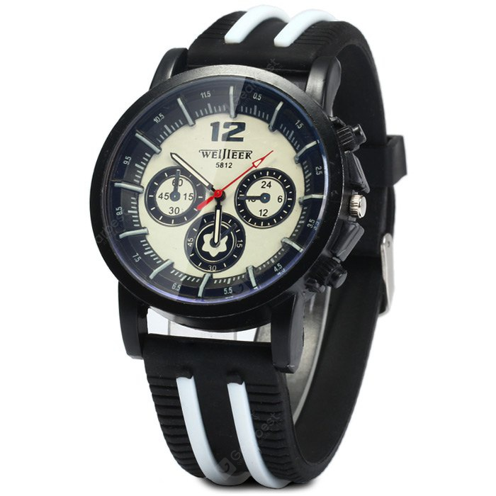 Weijieer 5812 Male Quartz Watch Rubber Band-4.53 Online Shopping GearBest.com