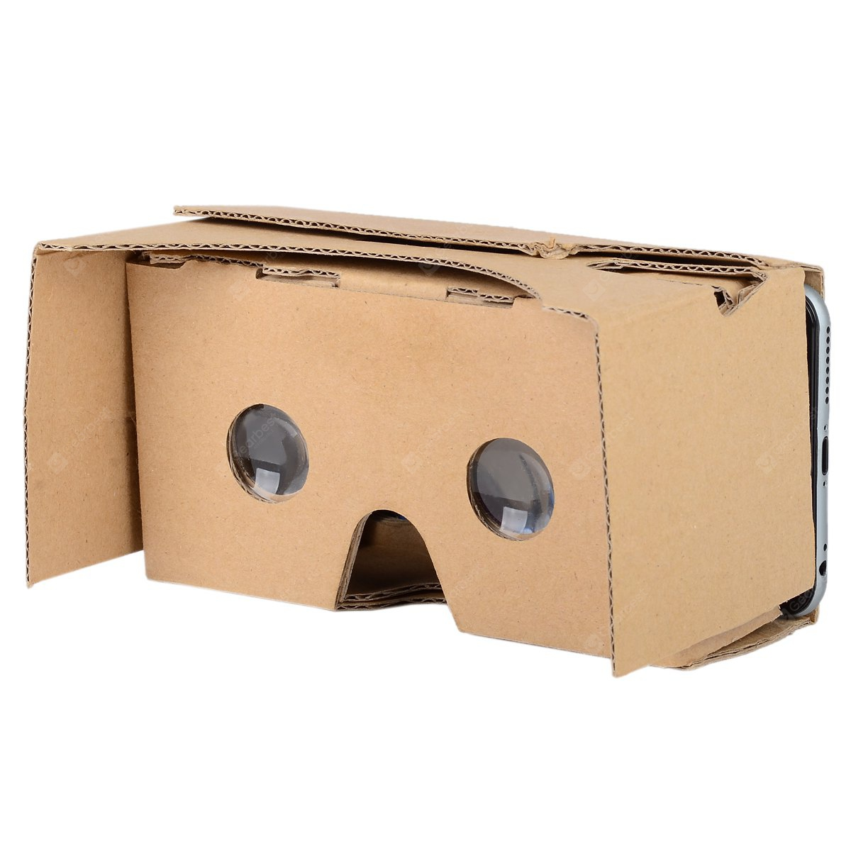 LightsCastle 2015 DIY Cardboard 2 Virtual Reality VR 3D Glasses for iPhone / Samsung Phone 150377201