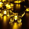 7.5M 40 LEDs Solar Butterfly LED String Light Waterproof Christmas Halloween Seasonal Lighting deal