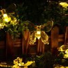 cheap 7.5M 40 LEDs Solar Butterfly LED String Light Waterproof Christmas Halloween Seasonal Lighting