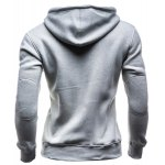cheap Slimming Hooded Single-Breasted Front Pocket Applique Design Men's Long Sleeves Hoodie