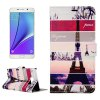 Buy ENKAY PU Leather Smart Fit Wallet Flap Case Stand Design Streak Eiffel Tower Pattern Credit Card Slot Samsung Galaxy Note 5 N9200 COLORMIX