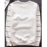 Buy Stylish Fitted Round Neck 3D Dog Stripe Print Long Sleeve Cotton Blend Sweatshirt Men XL WHITE