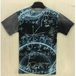 cheap Slimming Round Neck 3D Cartoon Splicing Formula Print Short Sleeve Men's T-Shirt