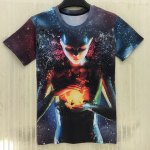 Round Neck 3D Starry Sky Extra-Terrestrial Print Slimming Short Sleeve Men's T-Shirt