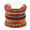Knitted Layered Beads Cuff Bracelet