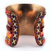 Knitted Layered Beads Cuff Bracelet deal