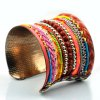 cheap Knitted Layered Beads Cuff Bracelet