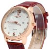 Valia 8610 - 1 Diamond Scales Date Function Male Quartz Watch with Leather Band deal