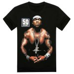 Buy Fashion Loose Fit Round Neck 3D Muscle Man Print Short Sleeve Cotton Blend T-Shirt Men L