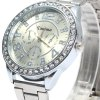 Kanima Male Quartz Watch with Diamond Bezel Stainless Steel Band deal