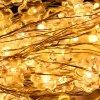 cheap 10m Xmas Flower Copper Wire String