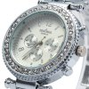 Contena Geneva Ladies Quartz Watch Diamond Bezel Stainless Steel Strap deal