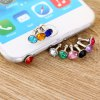 3.5mm Anti Dust Plug Diamond Design Earphone Jack Cap 10Pcs for sale