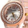 Chaoyada Female Diamond Quartz Watch Steel + Plastic Strap deal