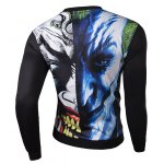 Hot Sale 3D Abstract Funny Face Rib Hem Slimming Round Neck Long Sleeves Men's Sweatshirt for sale