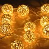 cheap 2.6M Xmas Vine Ball String Light