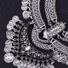 cheap Trendy Rhinestone Tassel Layered Coin Necklace For Women