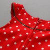 Cute Turtle Neck Solid Color T-Shirt + Sleeveless Polka Dot Bowknot Embellished Cartoon Spliced Dress Christmas Suits For Girl photo