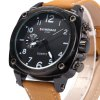 best Shiweibao A1453 Men Quartz Watch with Leather Band
