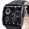 Shiweibao A1475 Male Dual Movt Quartz Watch with Leather Band deal