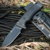 HX OUTDOORS Survival Straight Knife - BLACK