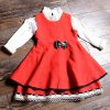Stylish Sleeveless Scoop Neck Bowknot Embellished Flounced Girl's Dress deal