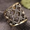 Vintage Hollow Out Square Rhinestone Women's Cuff Ring deal