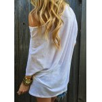 Casual 1/2 Sleeve Loose-Fitting Solid Color T-Shirt For Women deal