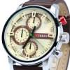 Curren 8170 Male Quartz Watch with Stereo Scale Leather Band deal