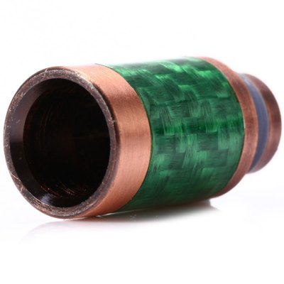 ФОТО Stainless Steel + Carbon Fiber 510 Drip Tip E Cigarette Mouthpiece