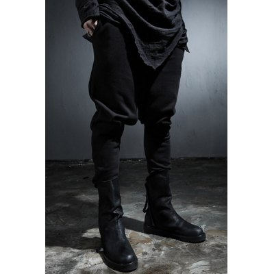 Гаджет   Vogue Narrow Feet Large Flap Pocket Slimming Lace-Up Black Men