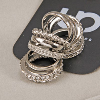 A Suit of Delicate Solid Color Round Rings For WomenRings<br>A Suit of Delicate Solid Color Round Rings For Women<br><br>Gender: For Women<br>Metal Type: Alloy<br>Style: Trendy<br>Shape/Pattern: Round<br>Diameter: 1.7CM<br>Weight: 0.08KG<br>Package Contents: 1 x Ring(Suit)