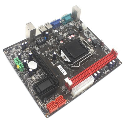 GUANTON H61 Intel LGA 1155 Micro ATX Dual-channel MotherboardMotherboards<br>GUANTON H61 Intel LGA 1155 Micro ATX Dual-channel Motherboard<br><br>Brand: GUANTON<br>Type: Motherboards<br>Form Factor: Micro ATX<br>Channels: 2.0<br>PCI Slot: 2<br>SATA 3Gb/s: 2<br>SATA 6Gb/s: 2<br>LAN Chip-set: RTL8105E<br>Interface: USB2.0, VGA, USB 1.1, PS/2<br>North Bridge Chip: H61<br>Audio Chip-set: ALC661<br>CPU Socket Type: LGA 1155<br>Memory Standard: DDR3<br>Max. Memory: 8GB<br>Channel Support: Dual-channel<br>Product Weight: 0.358 kg<br>Package Weight: 0.652 kg<br>Product Size: 21 x 17 x 3.4 cm / 8.25 x 6.68 x 1.34 inches<br>Package Size: 26 x 25.8 x 6 cm / 10.22 x 10.14 x 2.36 inches<br>Package Contents: 1 x Motherboard, 1 x CD, 1 x Data Cable ( 40cm ), 1 x English User Manual, 1 x Interface Baffle