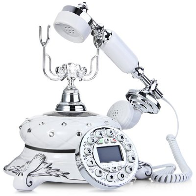 LD Maria Retro Ceramics TelephoneCell Phone Accessories<br>LD Maria Retro Ceramics Telephone<br><br>For: Mobile phone<br>Compatible models: LD Maria<br>Available color: White<br>Product weight: 1.380 kg<br>Package weight: 1.610 kg<br>Product size (L x W x H): 23.00 x 21.00 x 27.00 cm / 9.06 x 8.27 x 10.63 inches<br>Package size (L x W x H): 34.00 x 33.00 x 32.00 cm / 13.39 x 12.99 x 12.6 inches<br>Package Contents: 1 x Telephone, 1 x Charging Cable, 1 x Screwdriver