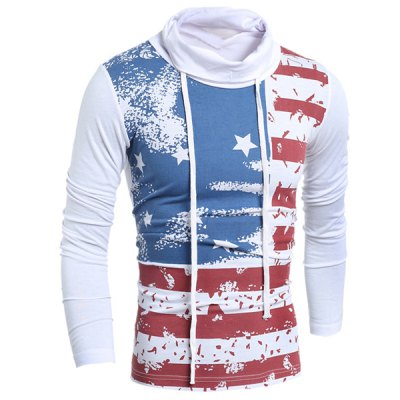 Western Style Drawstring Heaps Collar American Flag Print Hit Color Long Sleeves Mens Slim Fit T-ShirtMens Long Sleeves Tees<br>Western Style Drawstring Heaps Collar American Flag Print Hit Color Long Sleeves Mens Slim Fit T-Shirt<br><br>Material: Cotton Blends<br>Sleeve Length: Full<br>Collar: Cowl Neck<br>Style: Fashion<br>Weight: 0.298KG<br>Package Contents: 1 x T-Shirt<br>Pattern Type: Striped