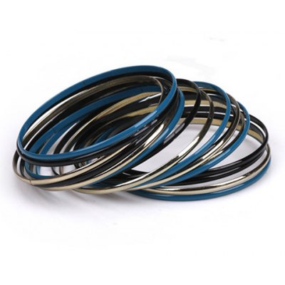 A Suit of Classic Colored Round Bracelets For Women