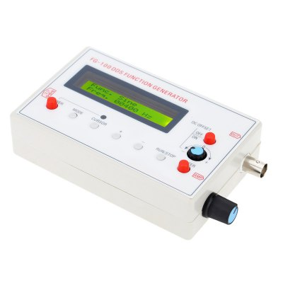 TS-FG100 DDS 1Hz-500KHz Function Generator ModuleLCD,LED Display Module<br>TS-FG100 DDS 1Hz-500KHz Function Generator Module<br><br>Type: LCD Display Module<br>Screen Type: LCD<br>Screen Size: 6.5 x 1.5<br>Operating Voltage: DC 3.5-10V<br>Output Impedance : 50Ohm<br>Output Range: ±10V(P-P)<br>DC Offset Range: ±10V (Can be closed)<br>Sine Wave Distortion: Over 1kHz&lt;0.5%, Under 1kHz&lt;1%<br>Frequency Range: 1Hz-500KHz(Sine Wave)<br>Resolution: 1Hz<br>Output Signal Type: Positive and Negative Sawtooth Waveform, Triangle, Sine, Square<br>Product Weight: 0.197 kg<br>Package Weight: 0.280 kg<br>Product Size(L x W x H): 14 x 8 x 3.5 cm / 5.50 x 3.14 x 1.38 inches<br>Package Size(L x W x H): 23 x 16 x 3.5 cm / 9.04 x 6.29 x 1.38 inches<br>Package Contents: 1 x Signal Generator, 1 x USB to DC Power Cable