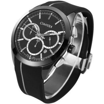 Гаджет   COMTEX S6505G Male Japan Quartz Watch with Silicone Band Men