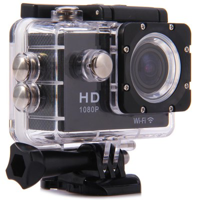 W9 1080P WiFi Sport CameraAction Cameras<br>W9 1080P WiFi Sport Camera<br><br>Chipset Name: Sunplus<br>Model: W9<br>Type: Sports Camera<br>Chipset: 9598<br>Max External Card Supported: TF 32G (not included)<br>Class Rating Requirements: Class 10 or Above<br>Screen size: 2.0inch<br>Screen type: LCD<br>Charge way: 3110<br>Working Time: 1.5h (1080P 30fps)<br>Battery Type: Removable<br>Image Sensor: OV2710<br>ISO: Auto<br>Decode Format: H.264<br>Video format: MOV<br>Video Resolution: 1080P (1920 x 1080),720P (1280 x 720)<br>Video System: NTSC,PAL<br>Video Frame Rate  : 30FPS,60FPS<br>Video Output : HDMI<br>Image Format : JPG<br>Image resolution: 12M (4000 x 3000),2M (1920 x 1080),5M (2592 x 1944),8M (3264 x 2448)<br>Audio System : Built-in microphone/speacker (AAC)<br>Exposure Compensation: +0.3,+0.7,+1,+1.3,+1.7,+2,-0.3,-0.7,-1,-1.3,-1.7,-2,0<br>Delay Shutdown : Yes<br>HDMI Output: Yes<br>Interface Type: Micro HDMI,Micro USB,TF Card Slot<br>Language: Cesky,Dutch,English,German,Italian,Japanese,Korean,Polski,Portuguese,Russian,Spanish,Thai,Traditional Chinese,Turkish<br>Loop-cycle Recording : Yes<br>Time Stamp: Yes<br>Waterproof: Yes<br>Waterproof Rating : 30m underwater with waterproof case<br>WIFI: Yes<br>WiFi Distance : 20m<br>WiFi Function: Remote Control,Settings,Sync and Sharing Albums<br>Product weight: 0.069 kg<br>Package weight: 0.650 kg<br>Product size (L x W x H): 5.93 x 2.46 x 4.11 cm / 2.33 x 0.97 x 1.62 inches<br>Package size (L x W x H): 28.00 x 18.00 x 8.00 cm / 11.02 x 7.09 x 3.15 inches<br>Package Contents: 1 x W9 Action Camera, 1 x Waterproof Case with Base Mount, 1 x J-Shaped Mount, 1 x Bike Handbar Mount, 1 x Backpack Clip, 1 x Backpack Clip Case, 1 x Long Connector + Screw, 2 x Short Connector + Scre