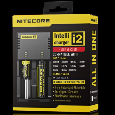 New Version Nitecore i2 Intellicharger Digi Charger with Indicator for AA AAA C 26650 22650 18490  -  US Plug от GearBest.com INT
